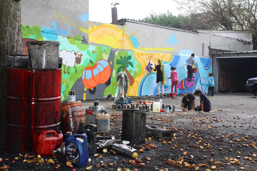 Sevran graffiti enfants atelier